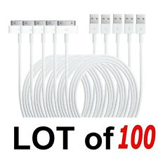 Lot of 100 USB Charger Sync Data Cable For iPad2 3 iPhone4 4S 3G iPod Nano Touch