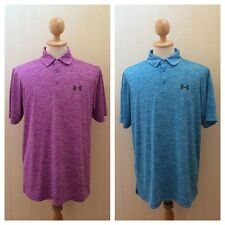 NEW Under Armour Heat Gear Loose Short Sleeve Polo Golf Men Top Size L XL