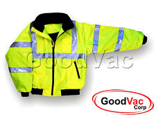 MAJESTIC 75-1301 High Visibility Lined Protective Bomber Jacket Fleece Lining 7X