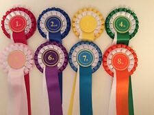 Rosettes 2 Tier 1st 2nd 3rd 4th 5th 6th 7th 8th 9th 10th Horse Equestrian Events