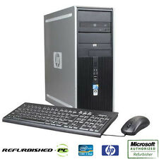 CLEARANCE!!! Fast HP Desktop Tower PC Core 2 Duo WINDOWS 10 Keyboard Mouse