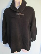 NWT Misses Size XLarge Sweater by CHAPS, Collared. Black OR Purple, 3/4 sleeves