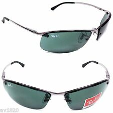 NEW RAY-BAN RB3183-77 SUNGLASSES TOP BAR 100%UV METAL UNISEX SPORT FROM ITALY