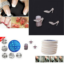 10 Sheets Nail Art Transfer Stickers 3D Design Manicure Tips Decal Decoration