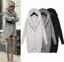 New Women Ladies Woolen Warm Top Casual Long Jacket Hooded Coat Outwear Overcoat