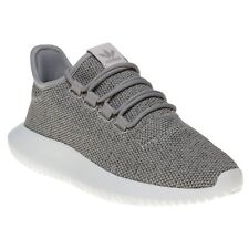 New Womens adidas Grey Tubular Shadow Knit Textile Trainers Running Style Lace
