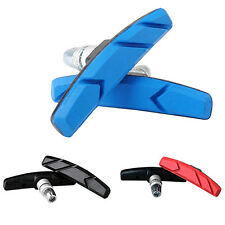 1 PAIR MOUNTAIN ROAD BICYCLE BIKE RUBBER V BRAKE HOLDER SHOES PADS BLOCKS AMPLE