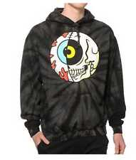 NEW MEN'S S M MISHKA CYCO SPLIT TIE DYE GLOW IN THE DARK KEEP WATCH HOODIE USA