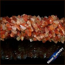 1/2/5 PCS 7-8mm Natural Red Carnelian Gemstone NUGGET Loose BEADS STRAND 34""
