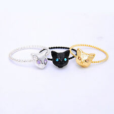 Women's Charming Cute Jewelry Vintage Style Cat Pattern Design Finger Alloy Ring