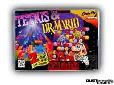 Tetris & Dr. Mario Super Nintendo SNES Game Case Box Professional Quality!!!