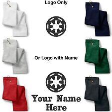 STAR WARS Imperial Logo Embroidered Golf/Sport Towel Reg. or Custom/Personalized