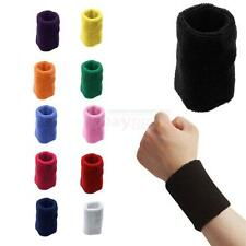 Sports Basketball Running Soft Comfort Breathable Cotton Sweatband Wristband