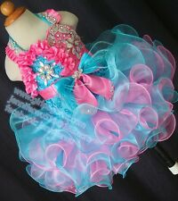INFANT/TODDLER/BABY/CHILDREN/KIDS LACE BEADED PAGEANT PARTY DRESS G272C