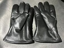 Men Genuine Leather Gloves for winter insulated Cow leather