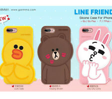For iPhone 7 7 Plus 6 6S Plus Cute Bear Brown Bunny Sally Duck Silicone 3D case