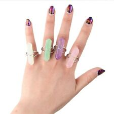 Womens Natural Stone Silver mitation Crystal Stone Ring Jewelry Gift Jewelry
