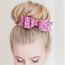 Women Girls Sequins Big Bowknot Barrette Hairpin Hair Clips Hair Bow