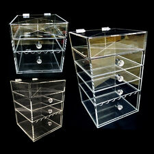 Flip cover Acrylic box Handmade Cosmetic Organizer Makeup Jewelry storage Large