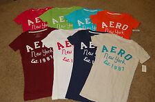 NWT Juniors AEROPOSTALE Embroidered NY Stacked Tee 7 colors XS S M L XL LQQK FS!
