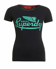 New Womens Superdry Icarus Entry T-Shirt Eclipse Navy