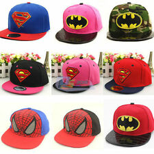 Kids Cool Superman Hip-hop Baseball Cap Adjustable Snapback Sun Outdoor Hat Gift