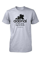 AproJes Adonai All Things Possible God Bible Verse Christian T-Shirt for Men