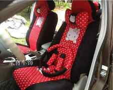 2017 NEW Cute 18 PCs Hello Kitty Universal  red Polka Dot Car Seat Covers
