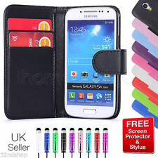 LEATHER WALLET CASE COVER FOR SAMSUNG GALAXY Mobile PHONE + SCREEN PROTECTOR