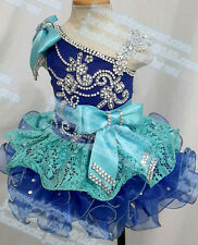 INFANT/TODDLER/BABY/CHILDREN/KIDS LACE CRYSTAL BEADED PAGEANT PARTY DRESS G218
