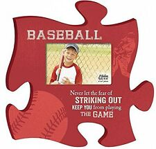 P Graham Dunn Baseball Play the Game 4x6 Photo Frame Inspirational Puzzle Piece