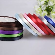 "Solid  Party Yards Single Bows 3/8"" Sewing New Handicraft Ribbon Satin Wedding"