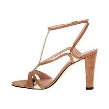Stuart Weitzman 8698 Womens Tasty Leather T-Strap Evening Sandals Heels BHFO