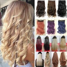One Piece Mega Thick Clip In Hair Extensions Real Natural Brown Blonde Black Fl2