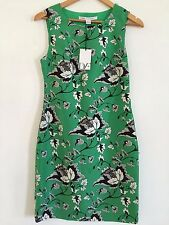 DVF Diane von Furstenberg SOFIA Dress Sz 2,4,6 SIMPLE TOILE GARDEN GREEN NWT