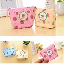 Kawaii Gift Cartoon Mini Bag Wallet Canva Coin Purse Zipper Style 11.5 x 9.5 cm