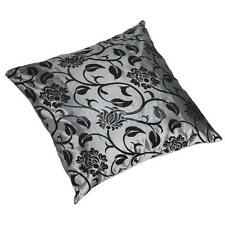 17x17 inch Floral Flocking Taffeta Throw Pillow Case Bed Cushion Pillow Cover