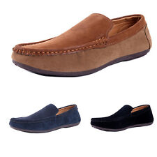 Men Casual Moccasin Slip On Suede Loafers Fashion Driving Faux Leather Shoes HOT