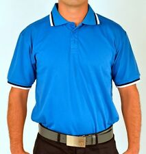 Sub70 Tour Blue Polo Stripe Golf Shirt Top SubSeventy Performance Free P&P