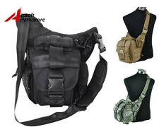 1000D Military Molle Tactical Utility Shoulder Sling Bag Backpack Pouch BK/Tan