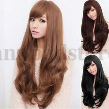 Women Long Hair Cosplay Party Lolita Grace Wavy Curly Full Wig Heat Resistant