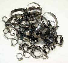 WORM DRIVE HOSE CLAMPS STAINLESS STEEL 60 Pc ASSORTED PACK - BONUS STORAGE BOX