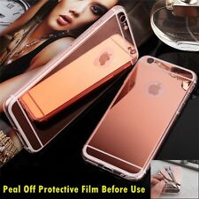Luxury Ultra-thin TPU RoseGold Mirror Metal Case Cover for iPhone 6/6s {bg411