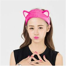 Tool Hair Accessories Cute Cat Ears Headband Wash Shower Cap Hair Head Band