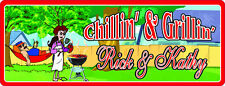 Chillin' & Grillin' Personalized Backyard Sign with Hammock, BBQ Grill C1041