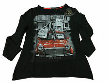 LAFTY LIE t- shirt woman long sleeve black 95%cotton 5% elastane MADE IN ITALY