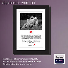Your Personalised Photo & Text Picture Frame 50 x 38cm QUOTES LYRICS LOVE