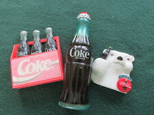 COCA-COLA collectibles, Magnets, & a plastic miniature bottle