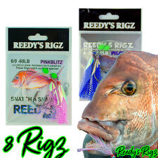 10 Snapper Rig Circle Hook 5/0 Paternoster Bait Snatchers Flasher Rig Tackle fly