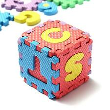 36Pcs Boy&Girl EVA Puzzle Mat Alphabet Number Educational Toy Puzzling Foam@